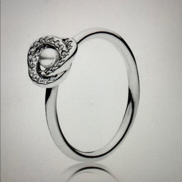30a7439e1 Jewelry | Pandora Luminous Love Knot Ring Sz 54 | Poshmark